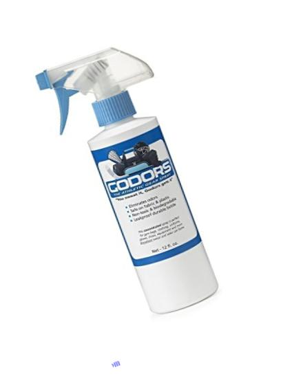 All-Natural Deodorizer that Eliminates Odors, 12 FL.OZ. Bottle, Kills Bacteria and Fungi, Cleans and Disinfects. For all types of Athletic Gear.