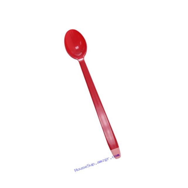 Lollicup U2205 (Red) Karat Heavy-Weight Disposable Soda Spoon, 7.8