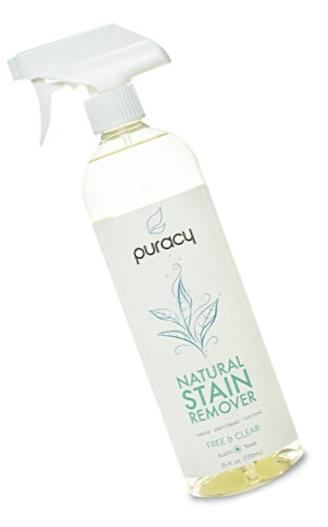 Puracy Natural Stain Remover - THE BEST Enzyme Laundry Cleaner - Plant-Based Spot & Odor Eliminator - Free & Clear - 25 fl. Ounce