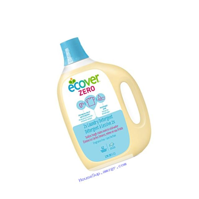 Ecover Naturally Derived 2x Laundry Detergent, Zero Fragrance-Free, 93 Ounce (Pack of 4)
