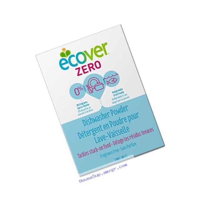 Ecover Naturally Derived Automatic Dishwasher Powder, Zero Fragrance-Free, 48 Ounce (Pack of 8)