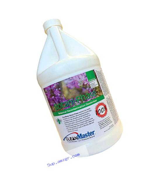 BotaniPhase - Botanical Decontamination Deodorizer for Odors Resulting from Water Damage, Moisture Build-Up and Mustiness, 1 gal (Pack of 4) - CleanMaster 800-509-B