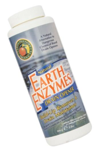 ECOS Earth Enzymes Drain Maintainer - Maintains Free-Flowing Drains. Septic and Greywater Safe. 2 LBS.